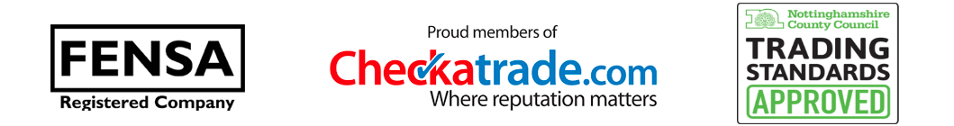 We're members of FENSA, CheckTrade.com and Nottinghamshire County Council Trading Standard